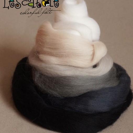 Kammzugset Schwarz-Weiß-Grau