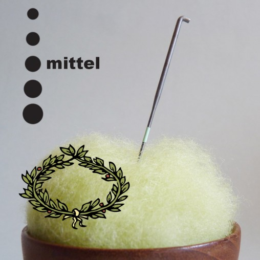 Crown felting needle -...