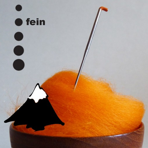 Felting needle with all...