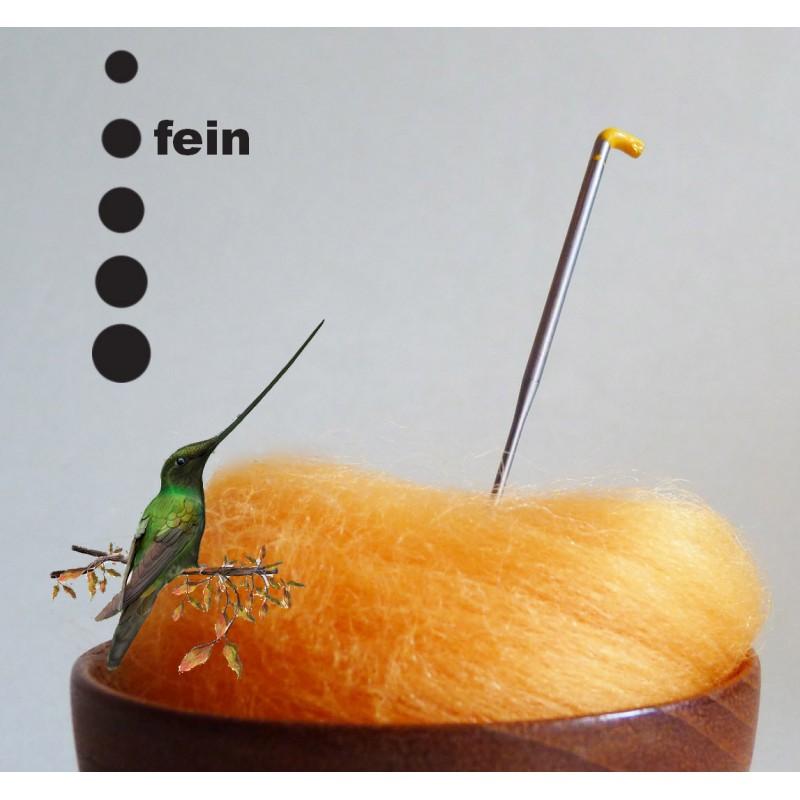 Fine felting needle with barbfree edge