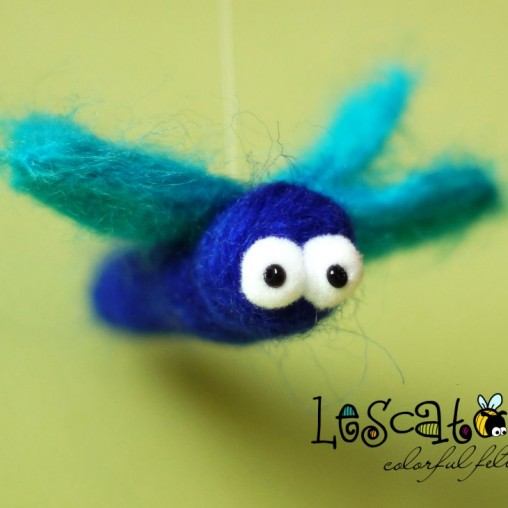 Little felted dragonfly