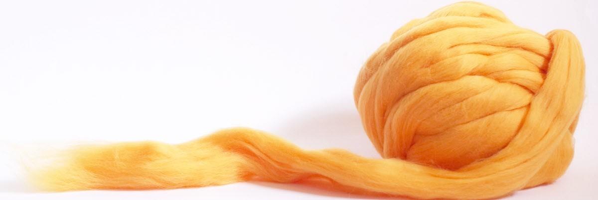 Merino slivers - single colors
