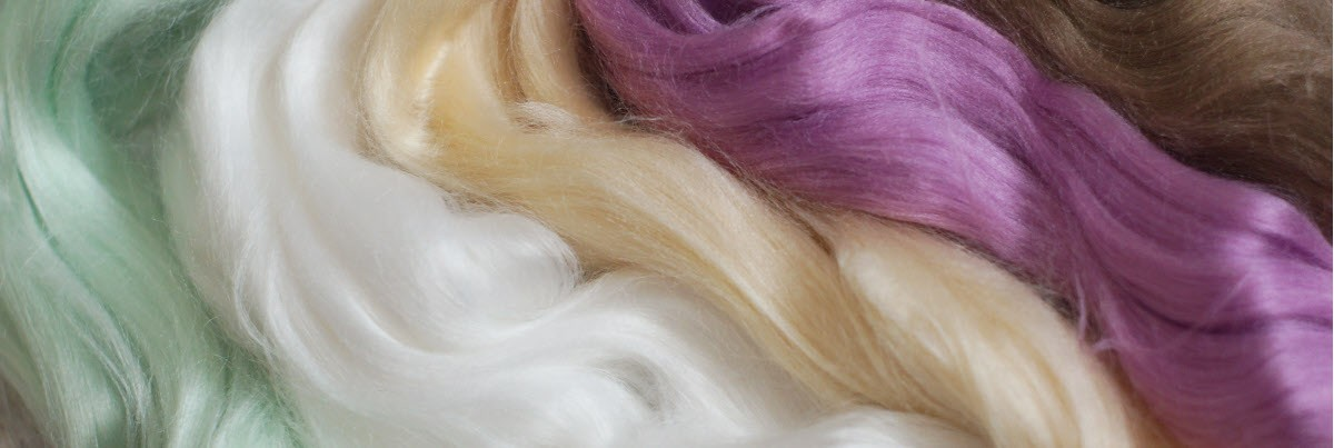 Viscose fibers for felting
