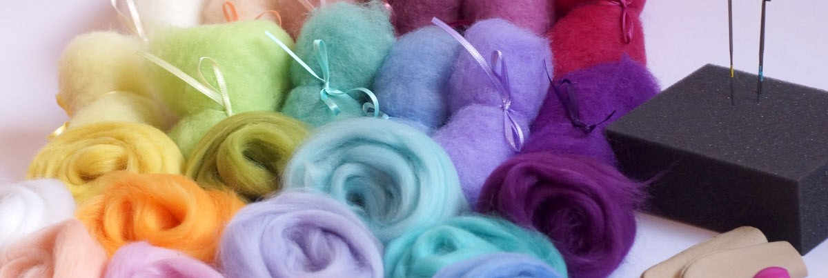 Material sets for needle felting beginners